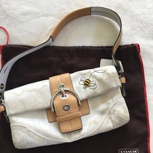 Coach Buzzy Bee Purse in White